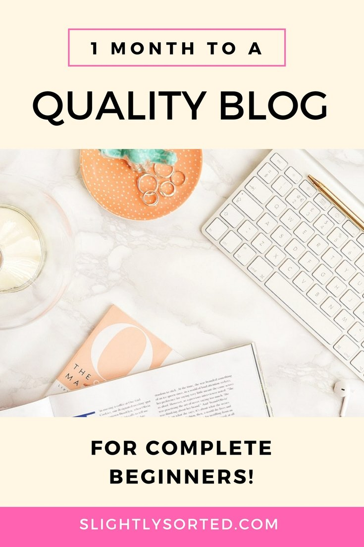 Start a Blog in One Month
