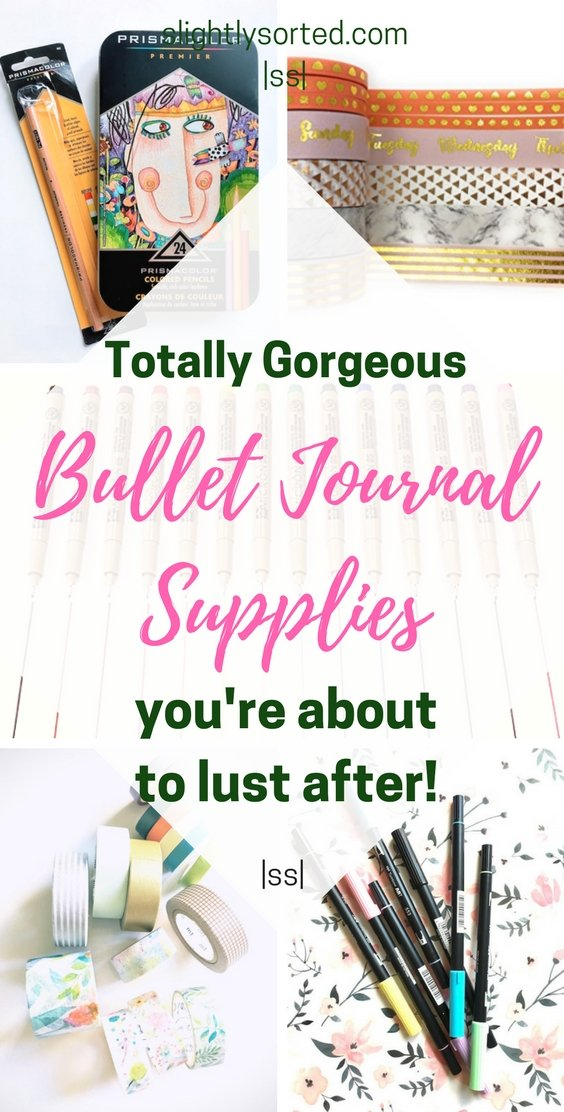 Totally gorgeous bullet journal supplies
