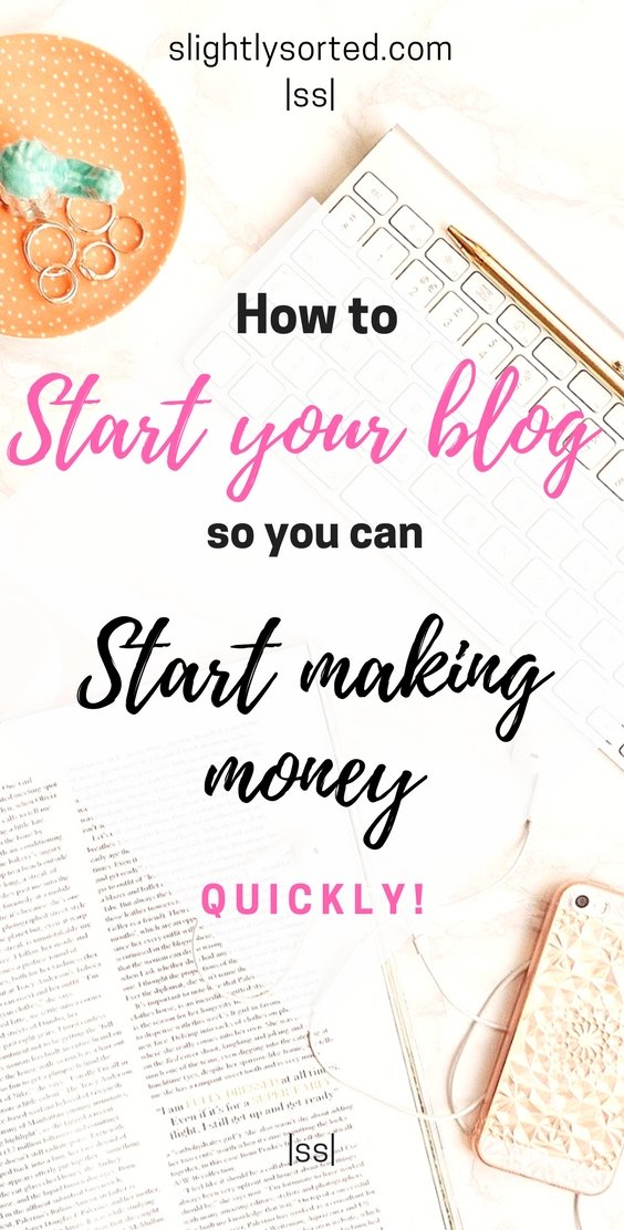 How to start your blog so you can start making money