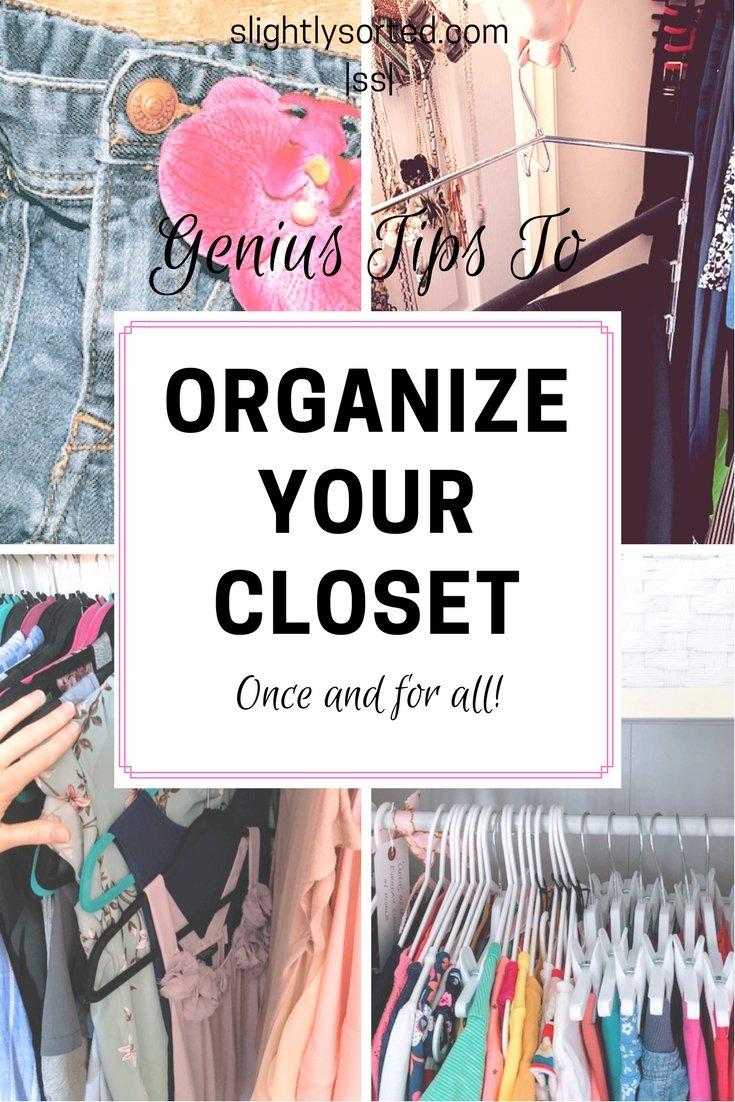Genius tips to organize your closet