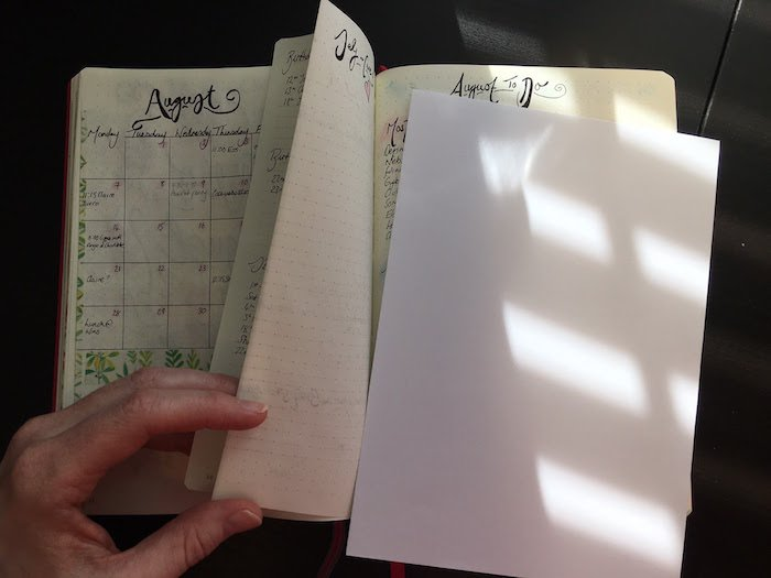 August Bullet Journal Layout With Dutch-Door
