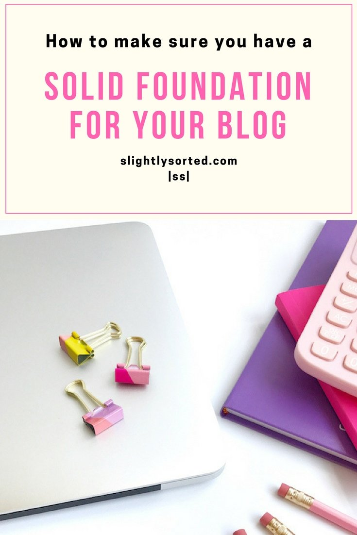 Build a solid foundation for your blog
