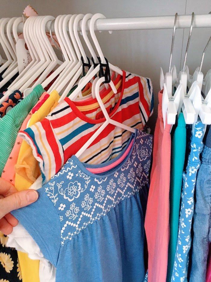 Hanger Hooks In Childrens Wardrobe