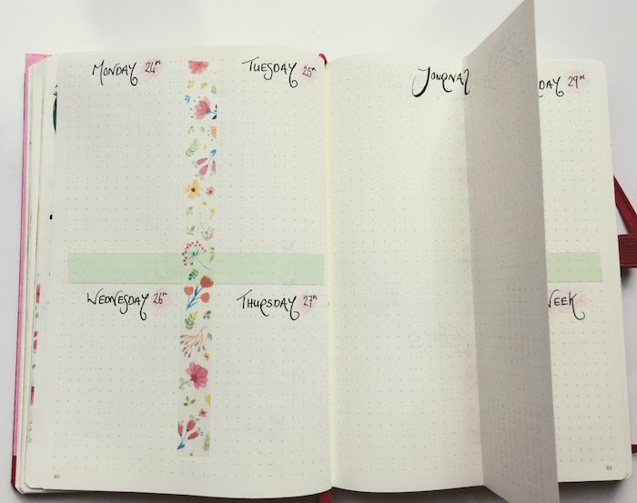 Weekly Spread With Journal Dutch Door