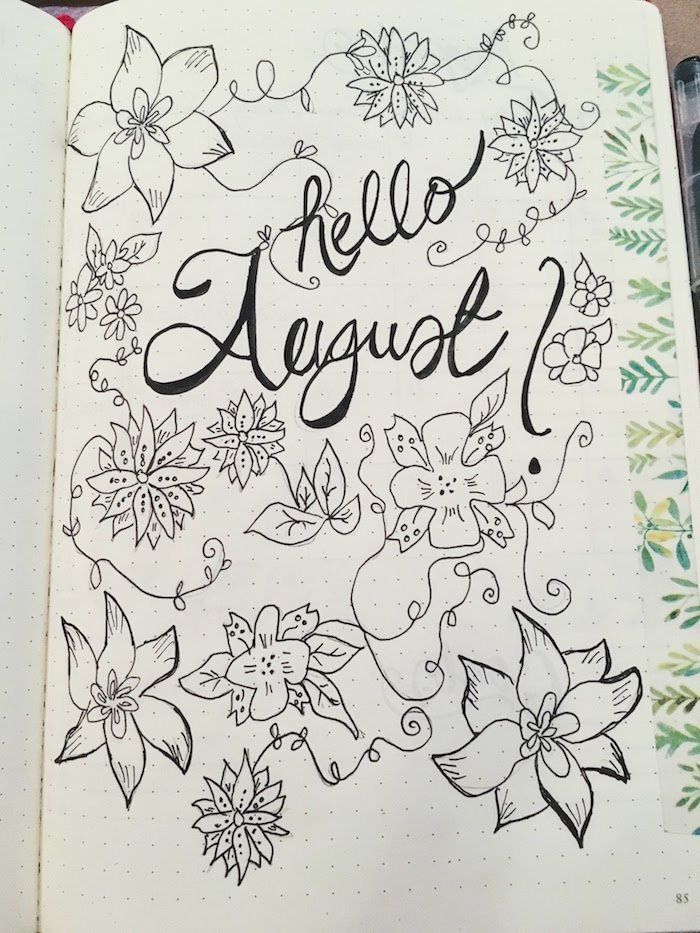 Black And White August Title Page
