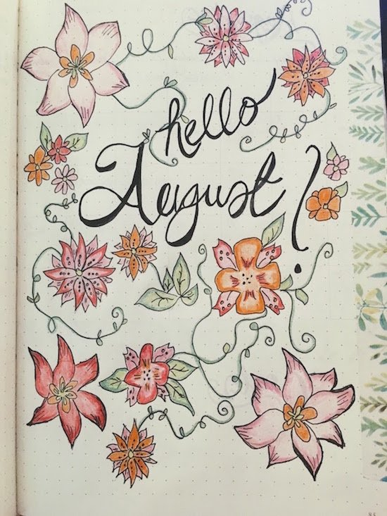 Coloured August Title Page