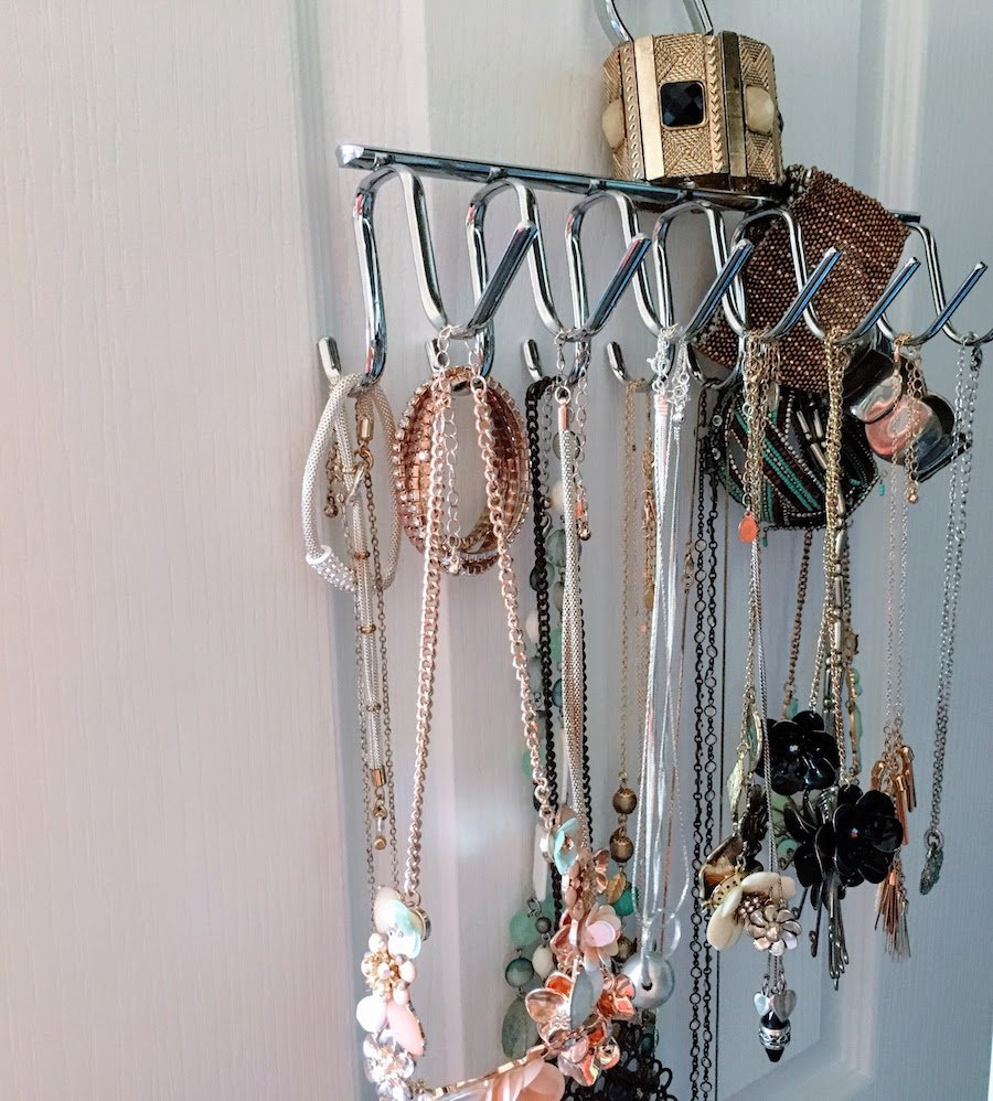 Hanging Jewellery Organiser In Wardrobe
