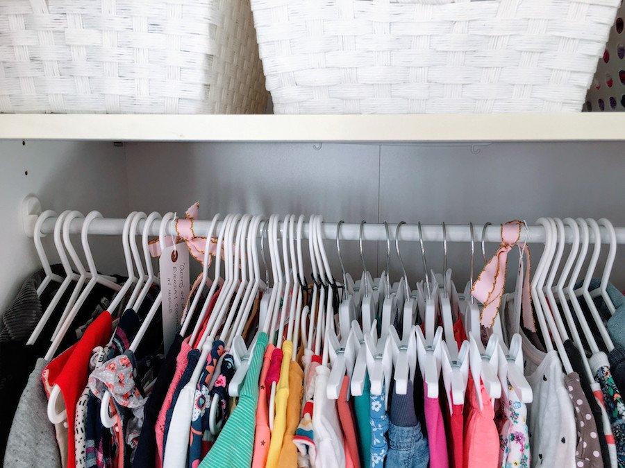 Organized Childs Wardrobe