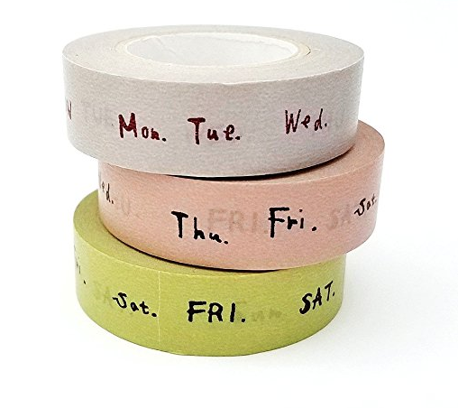 Bullet Journal Supplies Days of the Week Washi Tape