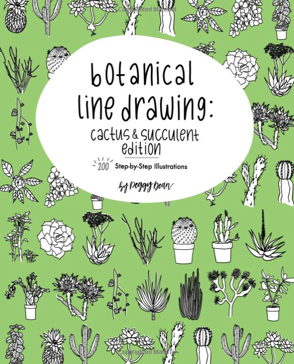 Bullet Journal Supplies Botanical Line Drawing