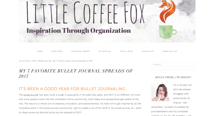 Bullet Journal Bloggers Little Coffee Fox
