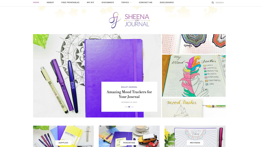 Bullet Journal Bloggers Sheena of the Journal