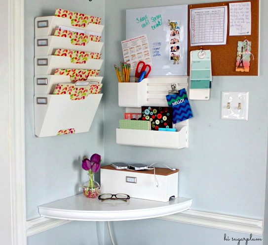 Home Command Centre Ideas Bright Corner Command Centre