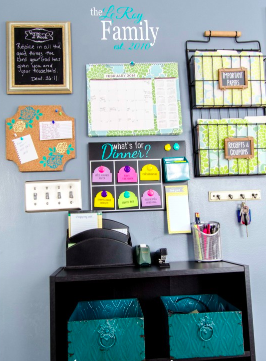 Home Command Centre Ideas Bright Family Command Centre