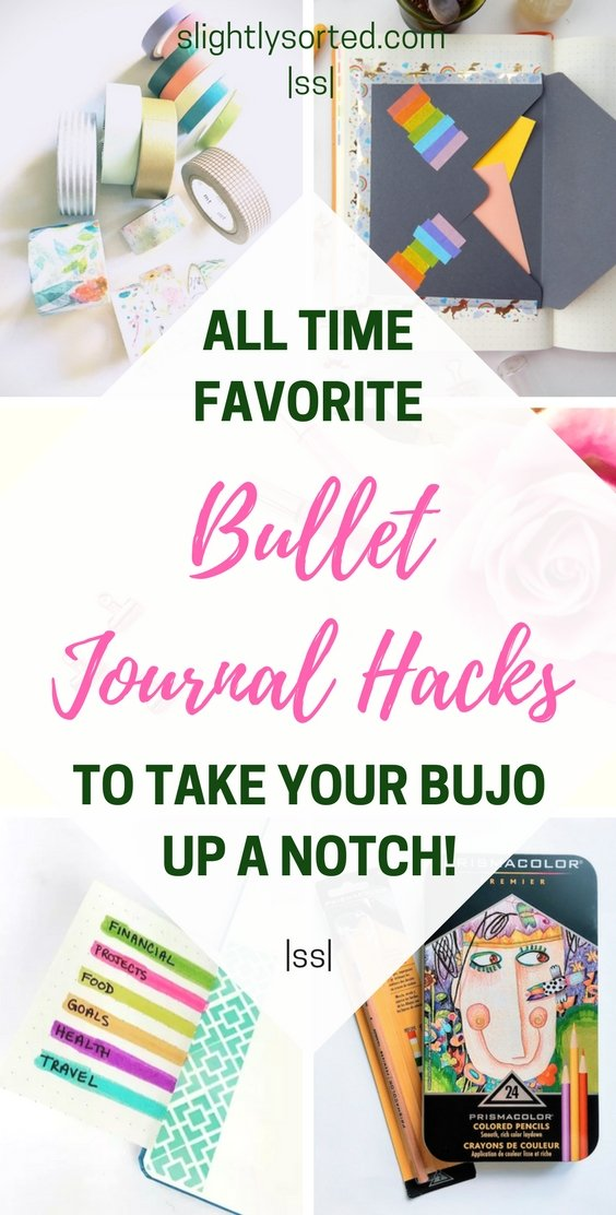 All time favorite bullet journal hacks