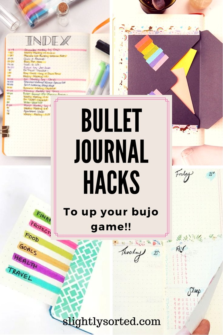 Amazing bullet journal hacks