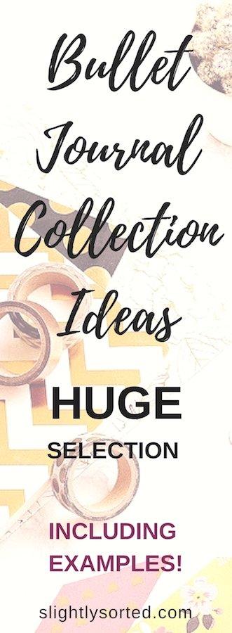 Bullet Journal Collection Ideas Pinterest