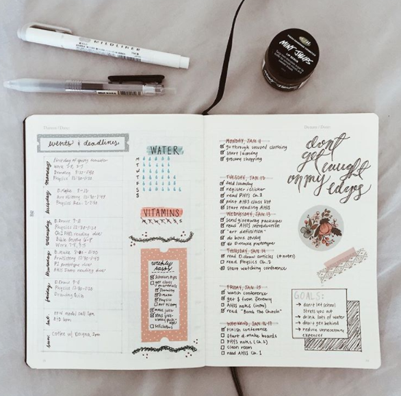 Bullet Journal Hack with Washi Tape