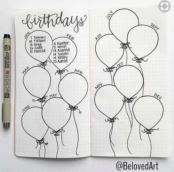 bullet journal collection ideas the best ones  slightly sorted clip art balloons free clip art balloon pictures