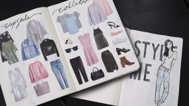 Bullet journal collection ideas capsule wardrobe