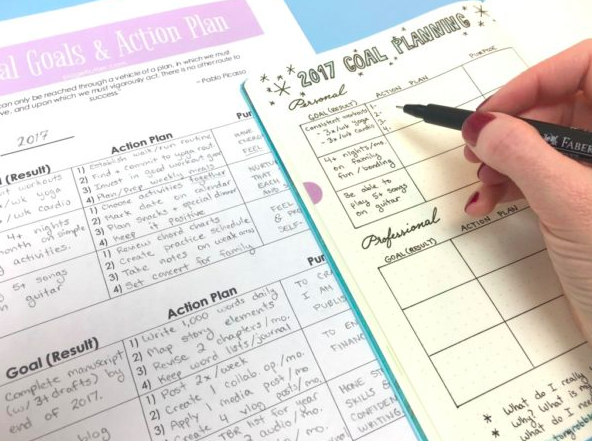 Bullet journal collection ideas goal setting 2
