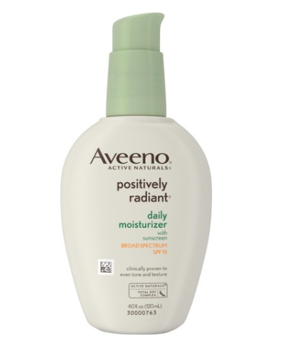 Look good on little sleep Aveeno moisturizer