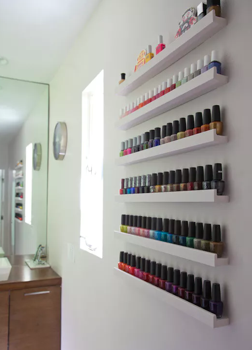 Makeup storage ideas nail polish ikea picture shelf