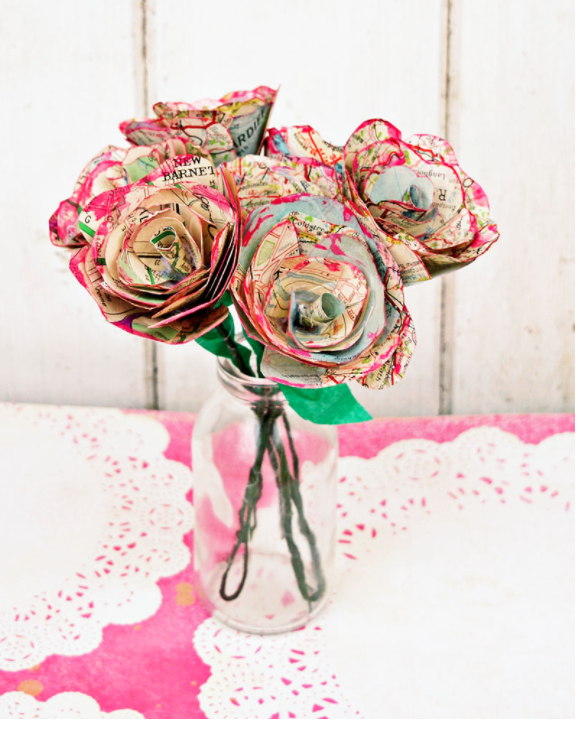 DIY Valentines Day Gifts Map Roses