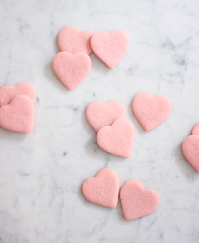 DIY Valentines Day Gifts Pink Heart Sugar Cookies