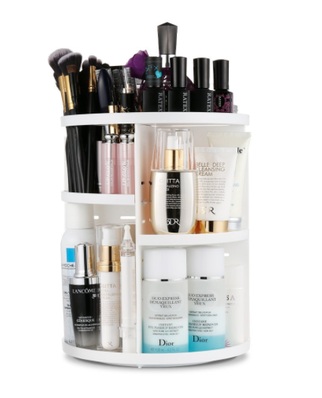 Rotating Makeup Storage Solution