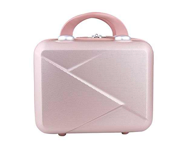 Rose gold vanity case for makeup storage