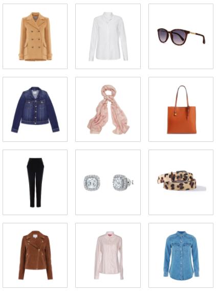 Wardrobe basics selection