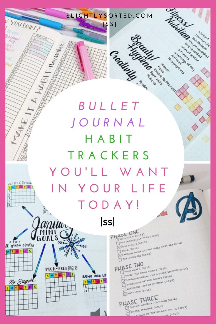 Bullet Journal Habit Trackers To Inspire