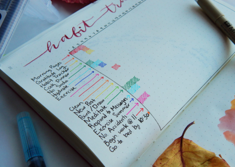Bullet Journal Tracker Ideas Monthly Tracker