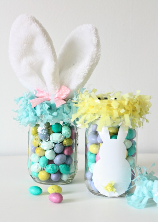 DIY Easter Craft Ideas Easter Bunny Mason Jars