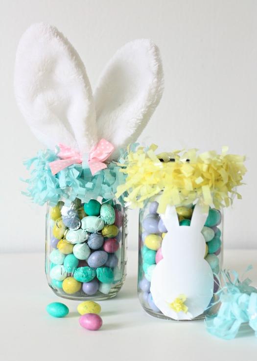 DIY Easter Craft Ideas Easter Bunny Mason Jars