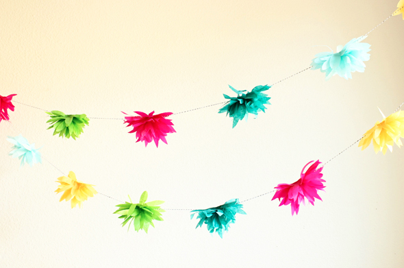 DIY Easter Craft Ideas Tissue Flower Garland