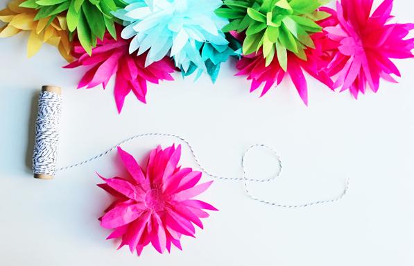 DIY Easter Craft Ideas Tissue Flower Garland