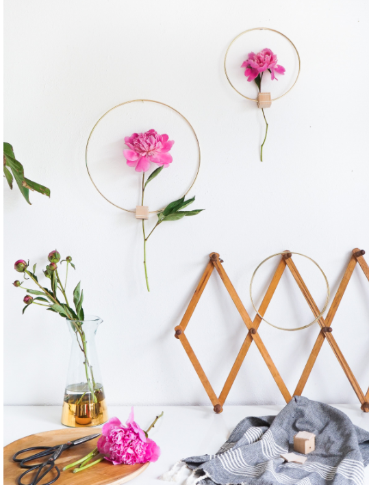 DIY Easter Craft Ideas Floral Wall Hanging