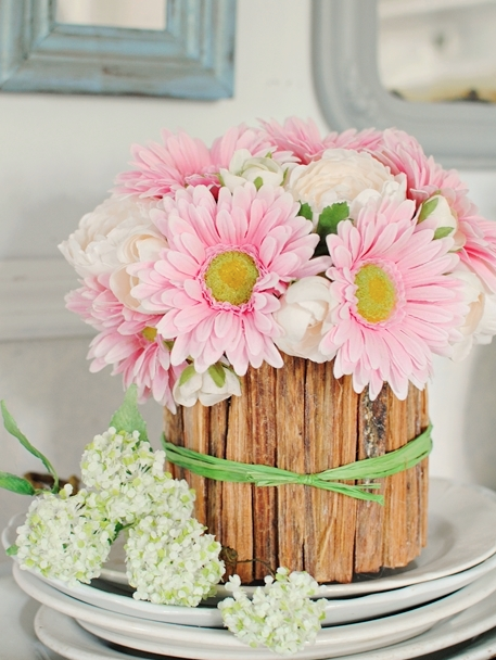 DIY Easter Craft Ideas Rustic Vase