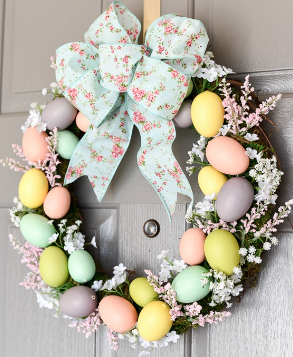 DIY Easter Craft Ideas Easter Egg Wreath