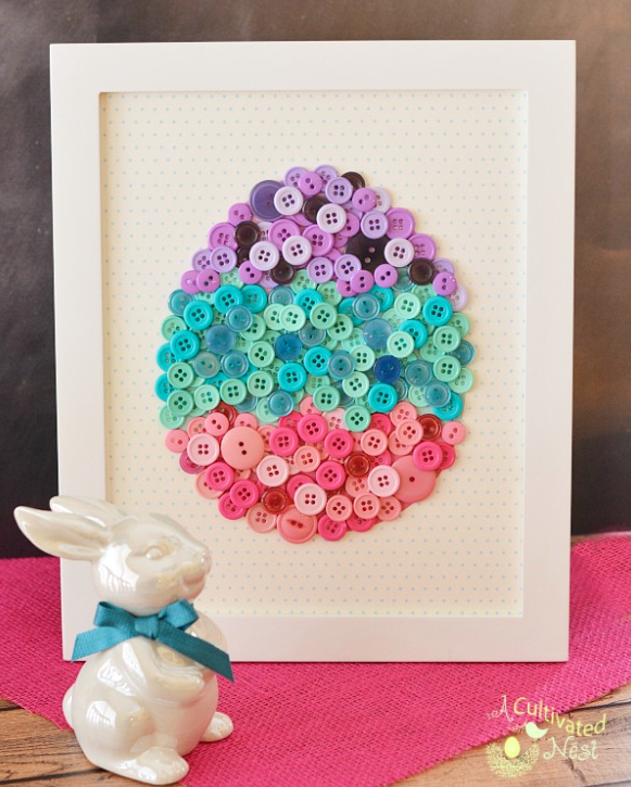 DIY Easter Craft Ideas Button Art