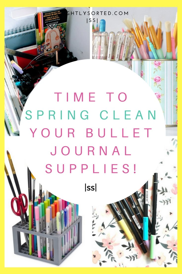Spring Clean Your Bullet Journal Supplies