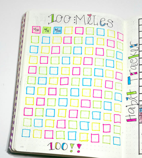 Bullet Journal Running Tracker