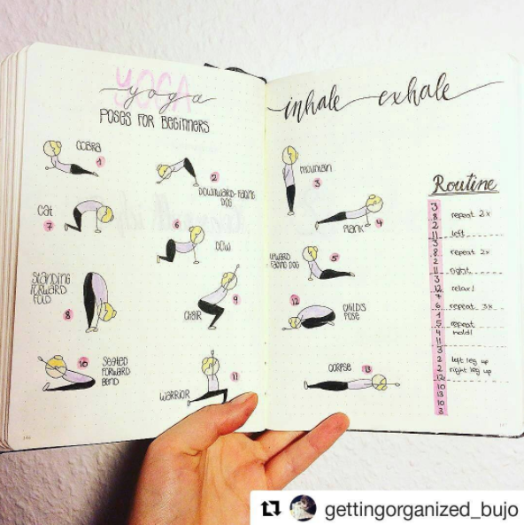 Bullet Journal Yoga Poses