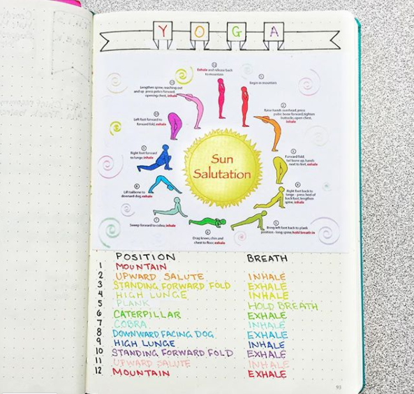 Bullet Journal Sun Salutation