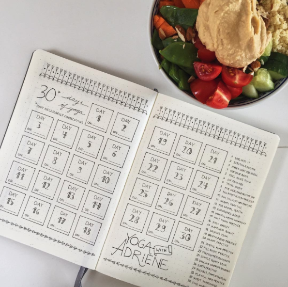 Bullet Journal Yoga Tracker