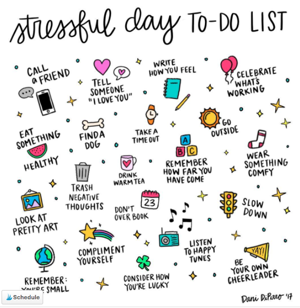 Bullet Journal Self Care Stress Ideas