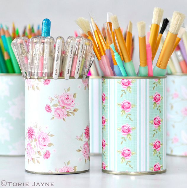Bullet Journal Supplies Organization Pretty Pen Pots