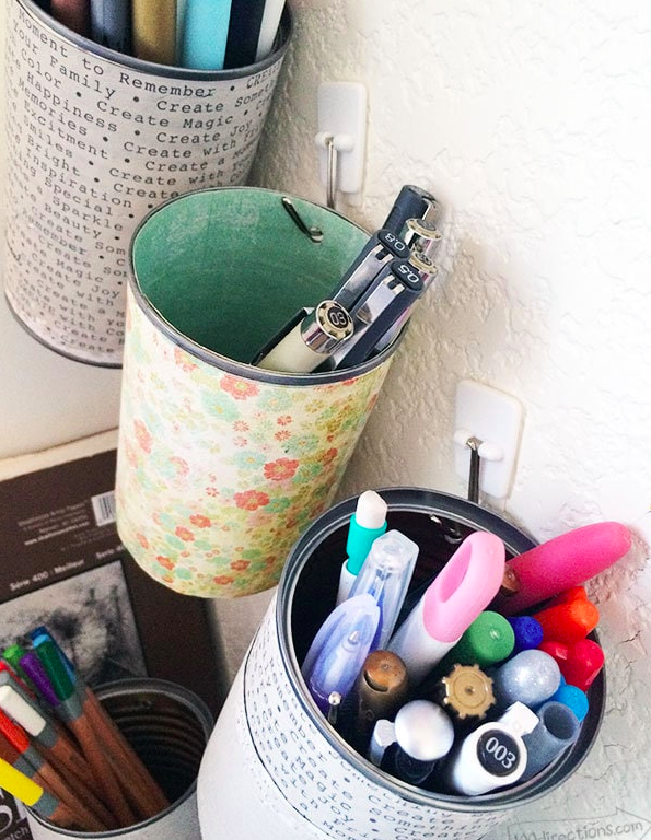 Bullet Journal Supplies Organization Hanging Pen Pots